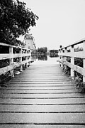 Wooden Platform Metal Prints - Pier at Kinderdjik Metal Print by Ivy Ho