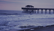 Tybee Island Pier Prints - Pier at morning Print by Georgeann  Chambers