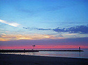 Sand Art - Pier at Sunset by Aimee L Maher