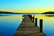 Doll Photo Originals - Pier at sunset  by Tommy Hammarsten
