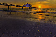 Pier Into The Sun Print by Marvin Spates
