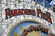 Paradise Pier Attraction Framed Prints - Pier of Paradise Framed Print by Ricky Barnard