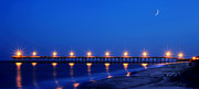 Dan Friend - Pier on ocean near Southport NC panoramic