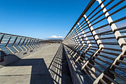 Kate Brown Metal Prints - Pier Perspective Metal Print by Kate Brown