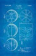 Pierce Basketball Patent Art 1929 Blueprint Print by Ian Monk