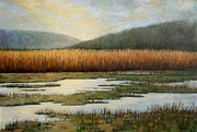 New York Tapestries - Textiles Prints - Piermonts Marshes Print by Sue Barrasi