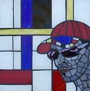 Mosaic Portrait Glass Art - Pierre by Gila Rayberg
