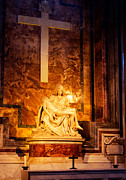 Vatican Photos - Pieta by Michelangelo by Phill Petrovic