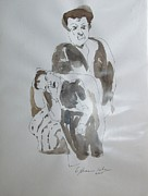 Mother And Child Greeting Cards Posters - Pieta in Mothers Arms Poster by Esther Newman-Cohen
