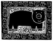 Pig  Print by Julie Nicholls