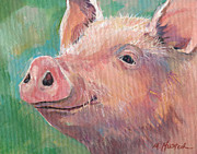 Swine Paintings - Pig by Marty Husted