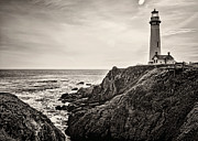 Pigeon Point Light Print by Heather Applegate