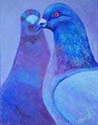 Shimmer Prints - Pigeons Print by Shirl Theis