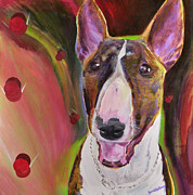 English Bull Terrier Framed Prints - Piggy Framed Print by Jesse Bateman