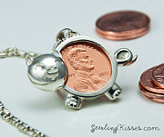 Pig Jewelry - Piggy Penny Pendant by Nicholas Damario