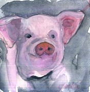 Piglet Paintings - Piglet by Sandra Stone