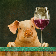 Pig Paintings - Pigot Noir... by Will Bullas