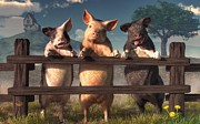 Daniel Eskridge - Pigs on a Fence