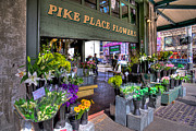 Pike Place Art - Pike Place Flowers by Spencer McDonald