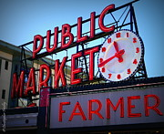 Christopher Fridley Prints - Pike Place Market Print by Christopher Fridley