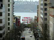 Alki Beach Framed Prints - Pike Place Market From Above Framed Print by Gayle Swigart