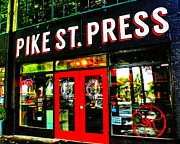 Storefront Art - Pike Press by Benjamin Yeager
