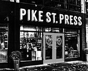 Storefront Art - Pike St Press by Benjamin Yeager