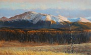 Front Range Painting Prints - Pikes Peak Print by Greg Clibon