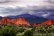 Storm Prints Framed Prints - Pikes Peak Storm Framed Print by Rod Seel