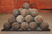 Armory Framed Prints - Pile of Cannon at San Francisco Fort Point 5D21493 Framed Print by Wingsdomain Art and Photography