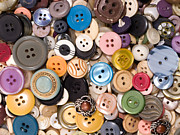 Clothes Clothing Art - Pile of old and used clothes buttons  by Jose Elias - Sofia Pereira