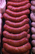 Meats Prints - Pile of Sausages - 5D20694 Print by Wingsdomain Art and Photography