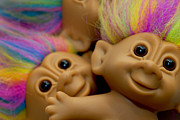 Big Eyes Posters - PIle of Troll Dolls Poster by Amy Cicconi