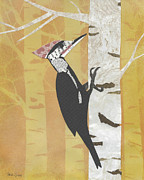 Woodpecker Mixed Media - Pileated Woodpecker by Brian Fuchs