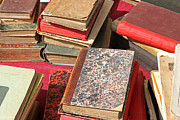 Old Objects Prints - Piles of old books Print by Kiril Stanchev
