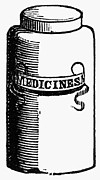 19th Century America Posters - PILL BOTTLE, 19th CENTURY Poster by Granger