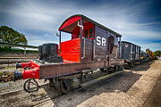 Caboose Framed Prints - Pill Box Brake Van Framed Print by Chris Thaxter