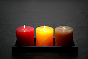 Pillar Candles Print by Olivier Le Queinec