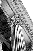 Columns Metal Prints - Pillar of Finance  Metal Print by Cathie Tyler