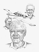 Flyers Drawings Acrylic Prints - Pilot Brother Acrylic Print by Nan Wright