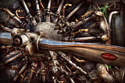 Steam-punk Prints - Pilot - Plane - Engines at the ready  Print by Mike Savad