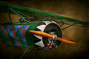 Airplane Photo Metal Prints - Pilot - Plane - German WW1 Fighter - Fokker D VIII Metal Print by Mike Savad