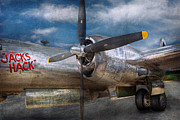 Aluminum Posters - Pilot - Plane - The B-29 Superfortress Poster by Mike Savad