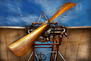 Wooden Metal Prints - Pilot - Prop - They dont build them like this anymore Metal Print by Mike Savad