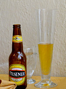Beer Framed Prints - Pilsener Beer Framed Print by Al Bourassa