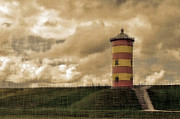 Dike Prints - Pilsum - Lighthouse Print by Sandra Roeken