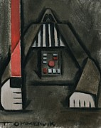 Darth Vader Paintings - Pin Head Vader by Tommervik