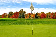 Golf Flag Prints - Pin High Print by Robert Harmon