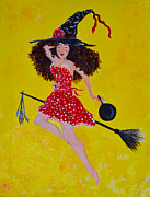 Cell Phone Cases Prints - Pin Up Kitchen Witch Print by Alys Caviness-Gober