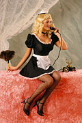 Pin-up Posters - Pin-up Maid Poster by Glenn Specht